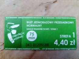 Ticket Transport Poland Warsaw City 75min - Bus