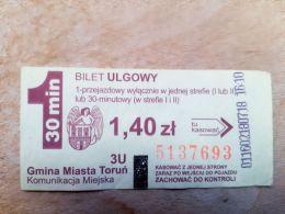 Ticket Transport Poland Torun City 30min - Bus