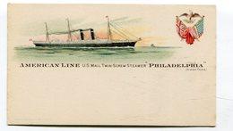 Cpa Bateau : Paquebot Philadelphia American Line US Mail   A   VOIR  !!! - Paquebots
