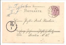 Ganzsache PKT DR. Nachverw. Potsdam - Briefe U. Dokumente