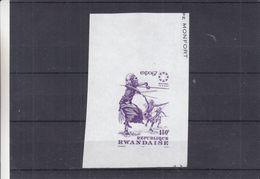Rwanda - Danse - Arc - COB BF 7 ** - Essais D'imprimerie - Expo 67 De Montreal - Taille Douce - Rwanda