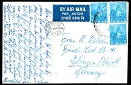 B8103 - Luftpost Indien Nach Ebingen - Calcutta - Jain Temple - Indien