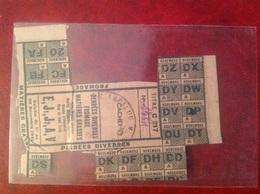 Ticket De Rationnement 1941 Mairie De Lapalud Fromage Émile Nemes - Gebührenstempel, Impoststempel