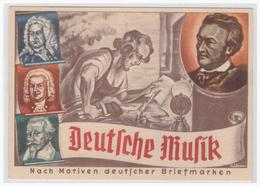 DT- Reich (002313) Propaganda Postkarte Olympia- Postwertzeichen- Ausstellung Dresden 1936, Deutsche Musik, Gelaufen - Germany