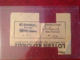 Ticket De Rationnement 1941 Mairie De Lapalud Charcuterie Autrand - Gebührenstempel, Impoststempel