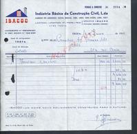 PORTUGAL FACTURE DE 1985 INDUSTRIA BASICA DA CONSTRUCAO CIVIL IBACUC TROFA : - Portugal