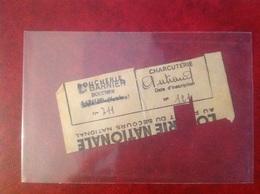 Ticket De Rationnement 1941 Mairie De Lapalud Boucherie Barnier - Cachets Généralité