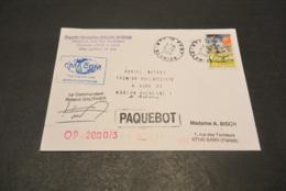 FC318a -  FRANCE - 2000 CMA CGM - Paquebot  Ravitailleur Marion Dufresne - Commandaznt Roland Gauthier - Documents De La Poste