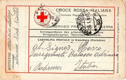 """1919 Cartolina """"Croce Rossa Italiana"""" - Servizio Prigionieri Di Guerra - Viaggiata In Franchigia - Croce Rossa"""