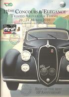 Sassuolo, Salvarola Terme, 11° Concours D'Elégance, Brochure 24 Pag. Cm. 22 X 30, Francobollo Ed Annullo In Tema. - Automobili