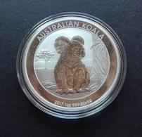 Australia, Koala 1 Oz 2017 Silver 9999 Pure - 1 Oncia Argento Puro Bullion Perth Min - Australia