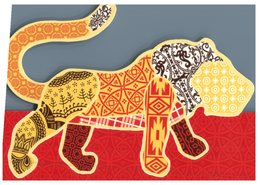 (999) Australia - Avanti Cards - Lion (shape Card) - Lions