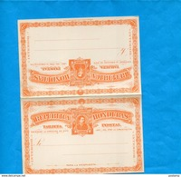 "HONDURAS-carte Entier Postal-postal Stationnery-""Con Repuesta Pagada""  1891-neuve-2-c  Orange-Président Bogran - Honduras"