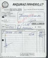 PORTUGAL FACTURE DE 1986 MAQUINAS PINHEIRO TROFA ( BOIS ) : - Portugal