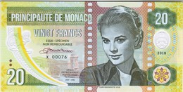 Monaco - 20 Francs 2018 - Unc - Fantasy Banknote - Private Issue - Not A Legal Tender - Monaco