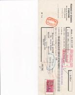 BEGLES PECHERIES ET SECHERIES D AQUITAINE AVEC CACHET ET TIMBRE ANNEE 1957 A MR LACROIX ALIMENTATION BEZIERS - France