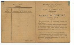 Armée Francaise  ;carte D'identité 12.01.1945 - 1939-45