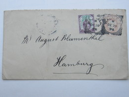 1896 , Perforation , Perfin , Cover To Germany - Great Britain