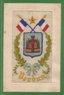55 - Meuse - Verdun - Carte Brodée Ecrtie En 1917 - Blason De Verdun - Drapeaux Français - Guerre 1914 1918 - Verdun