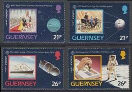 Guernsey 1991 Mi 518 /1 YT 520 /3 ** Europa In Space / Europäische Weltraumfahrt / Europe Et L'espace - Space