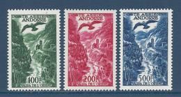 Andorre Français - Poste Aérienne YT N° 2 à 4 - Neuf Avec Charnière - 1955 à 1957 - Poste Aérienne