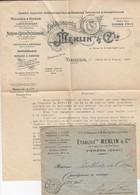 FRANCE LETTRE. 10 1 22. IMPRIMES PP VIERZON PUBLICITE. MACHINES A VAPEUR. MACHINES A BATTRE ETS MERLIN & C° - 1921-1960: Période Moderne