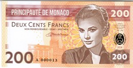 Monaco - 200 Francs 2018 - Unc - Fantasy Banknote - Private Issue - Not A Legal Tender - Mónaco
