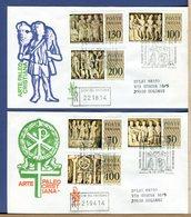 VATICANO  -  FDC  VENETIA - 1977  - SARCOFAGHI PALEOCRISTIANI  - RACCOMANDATA CON TIMBRO ARRIVO - FDC