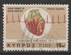 Cyprus  1972 International Heart Campaign 15 M Multicoloured SW 379 O Used - Cyprus (Republic)
