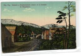 1 Postcard Argentina Estancia Y Establecimiento Minero En Le Estrecho De Magallanes - Argentine