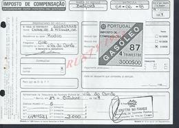 PORTUGAL FACTURE DE 1987 IMPOT SUR CAMION BEDFORD MINISTÉRE DES FINANCE : - Portugal