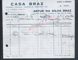 PORTUGAL FACTURE DE 1985 CASA BRAZ ARTUR DA SILVA DROGUERIE FER A FAJOZES : - Portugal