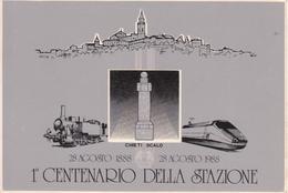 1° Centenario Della Stazione Di Chieti Scalo 1988 - Pubblicitari