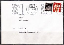 BRD, MiNr. 506 (+639) Auf Portoger. Brief In Bonn; B-2159 - [7] Federal Republic