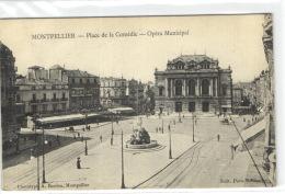 1 CPA Herault Montpellier - Place De La Comédie - Opéra Municipal - Autres Communes