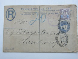 1897 , Perforation , Perfin ,registered  Cover To Germany - Great Britain