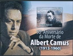 ¤¤ ALGERIA IN STAMPS ¤¤ SAO TOME E PRINCIPE 2009 ALBERT CAMUS SHEET BLOC BLOCK  MNH - Timbres