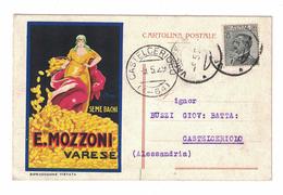 CARTOLINA PUBBLICITARIA  SEME BACHI  E. MOZZONI  ILLUSTRATORE MAGA - Pubblicitari