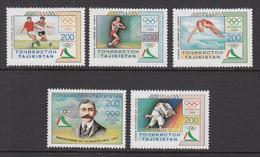 1996 Tajikistan Atlanta Olympics Set Of 5 MNH - Tadjikistan