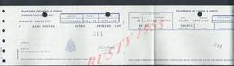 PORTUGAL FACTURE DE 1979 DES TELEPHONES DE LISBOA & PORTO TOUT N EST PAS SCANNER : - Portugal