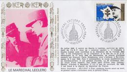 Enveloppe   FRANCE   Maréchal   LECLERC    AMIENS   1997 - Guerre Mondiale (Seconde)