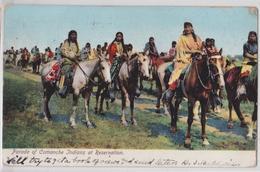 Parade Of Comanche Indians At Reservation - Indien - Native Indian - Indiens D'Amérique - Indianer