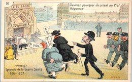 Militaire - Humour - Paris - Episode De La Guerre Sainte 1906-1907 - L'église Inviolable - Humour