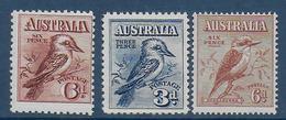 AUSTRALIA - YVERT N° 17+59+93 ** MNH - COTE = 165+ EUR. - FAUNE ET FLORE - OISEAUX - 1913-36 George V : Andere