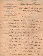 VP13.065 - RIO DE JANEIRO 1923 - Lettre Du Ministère Commissariat Général Pour Le Général GAMELIN - Manuscripts