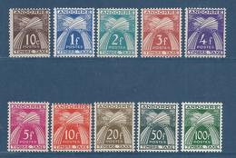 Andorre Français - Taxe YT N° 32 à 41 - Neuf Avec Charnière - 1946 à 1950 - Portomarken