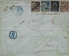 1893- Enveloppe RECC. De TOUHO  Pour Paris Affr.  75 C - Briefe U. Dokumente