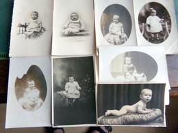 Lot PHOTO Portrait D'Enfants Bebes BB Poupons  VINTAGE - Photos