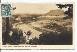 Dt.- Reich (002364) MNR 818 Als Einzelfrankatur Auf Ansichtskarte Gelaufen Am 9.9.1942 Aus Rathen - Briefe U. Dokumente