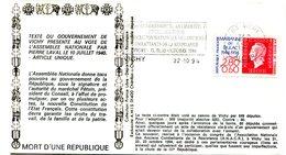 Libération - Flamme Vichy Du 22 Octobre 1994 - 50ième Anniversaire - X 507 - WW2
